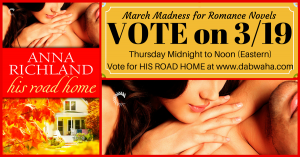Click to Vote for HIS ROAD HOME in the Romance Tournament at www.dabwhaha.com