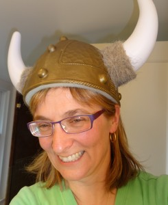 My costume. Not Mardi Gras, but Immortal Vikings!